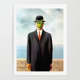 Rene Magritte The Son of Man, 1964 Artwork, Tshirts, Posters, Prints, Bags, Men, Women, Youth Poster