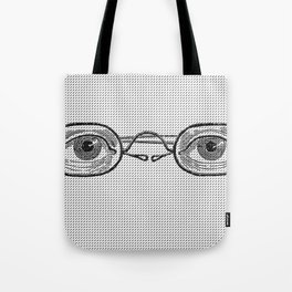 eyes glasses black white Tote Bag