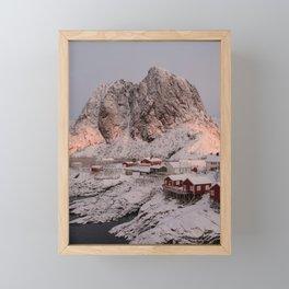 Hamnøy Winter Sunrise Framed Mini Art Print
