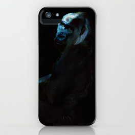 Humanity - Mountain Gorilla in Moonlight iPhone Case