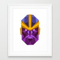 thanos Framed Art Prints featuring THANOS by rybbrybson