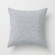 Ab Linea Grey Throw Pillow