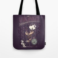 vikings Tote Bags featuring Vikings by hugraphic