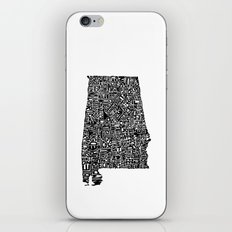 Typographic Alabama iPhone & iPod Skin