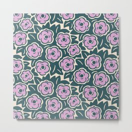Flower Bouquets Lavender Green and Beige 223 Metal Print