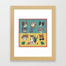Cats Reunion Framed Art Print