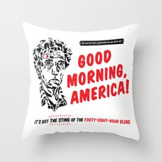 Good Morning, America! Throw Pillow