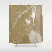 thorin Shower Curtains featuring Thorin by Christine Tromop