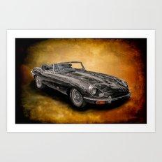 Jaguar E-Type 4.2 convertible Art Print