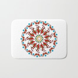 Hand drawn Mandala design Bath Mat