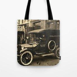 Vintage Police Car Tote Bag