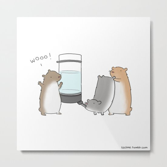 Ain't Nothin But A Hamster Party  Metal Print