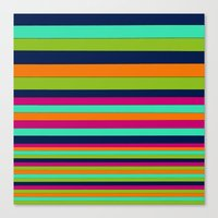 stripe Canvas Prints featuring Stripe by Aimee St Hill