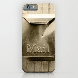 Mail - Sepia iPhone Case