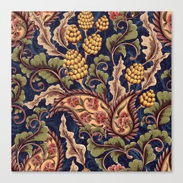 Beautiful Victorian Vintage Floral Pattern Canvas Print