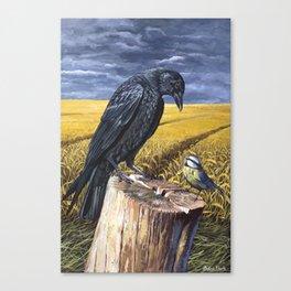 David & Goliath - Acrylic Painting - British Birds Canvas Print