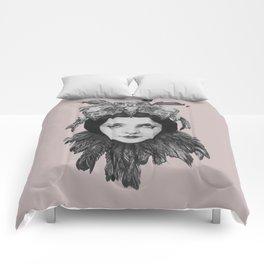 Dame Vogel Schädel Comforters