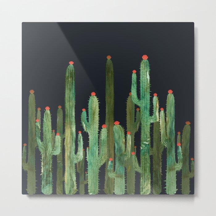 Cactus Four at night Metal Print
