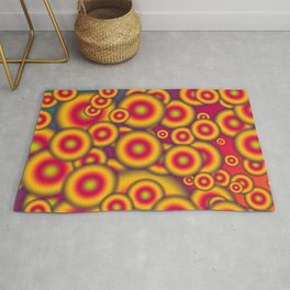 Jelly donuts invasion Rug