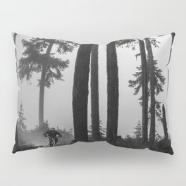 Mountain Biker in the Misty Bike Park Pillow Sham