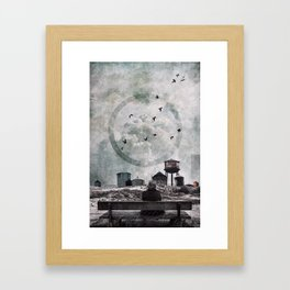 Living in the past Framed Art Print