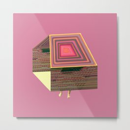 Pink Virtual House Metal Print