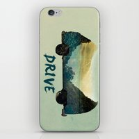 drive iPhone & iPod Skins featuring drive by yuvalaltman