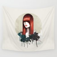 redhead Wall Tapestries featuring The Redhead by Nettsch