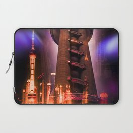 Full moon - Moments Shanghai Oriental Pearl Tower Laptop Sleeve