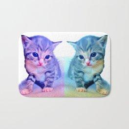 Cute Colorful Cat Couple Bath Mat