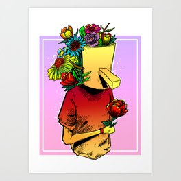 gives you flowers Art Print