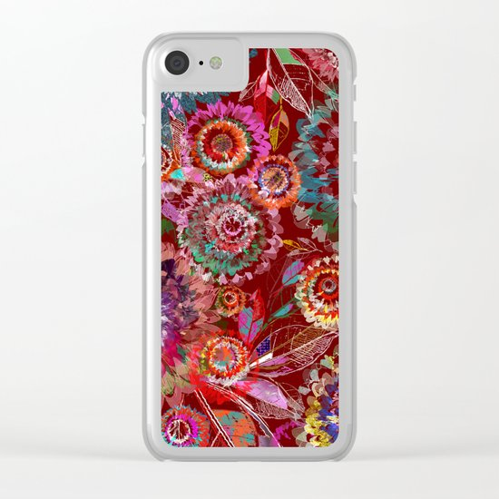 Floral abstract(54) Clear iPhone Case