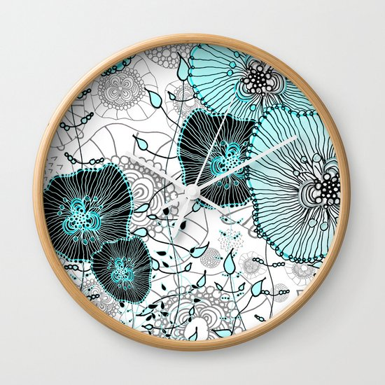 MYSTIC GARDEN MINT Wall Clock