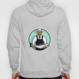 African American Fishmonger Holding Trout Hoody