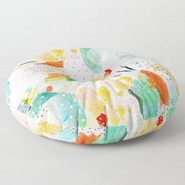 toto: abstract painting Floor Pillow