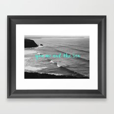 You me and the sea Framed Art Print