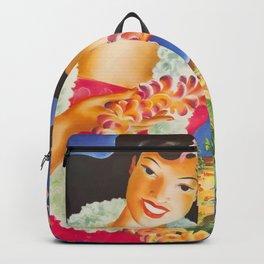 Vintage Hawaii Travel poster Backpack