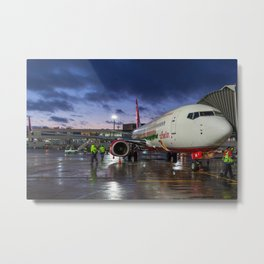 Flying home for X-mas Metal Print