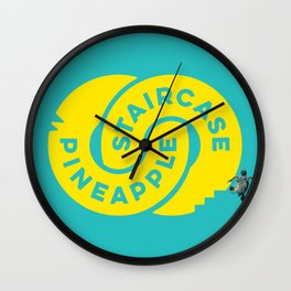PineappleStaircase | Official Logocolor 2015 in Turquoise/Yellow + Honu Wall Clock