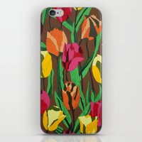 tulips iPhone & iPod Skins featuring Tulips  by Marjolein