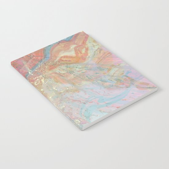 Marble Art V10 #society6 Notebook
