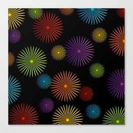 Colorful Christmas snowflakes pattern- holiday season gifts- Happy new year gifts Canvas Print