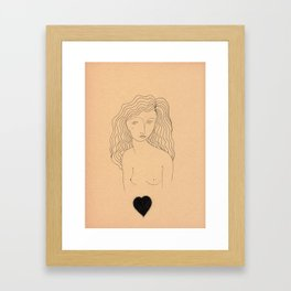 Floating Heart Framed Art Print
