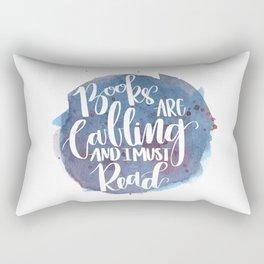 Books are Calling Rectangular Pillow
