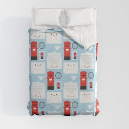 Happy Mail - Kawaii Post Duvet Cover