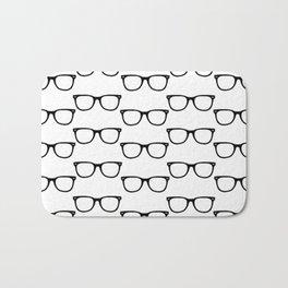 Black Funky Glasses Bath Mat