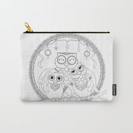 Owl Family Love Carry-All Pouch