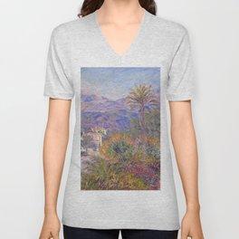 Claude Monet - Strada Romada in Bordighera Unisex V-Neck