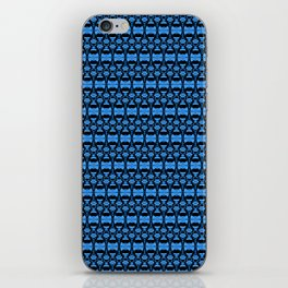 Dividers 02 in Blue over Black iPhone Skin