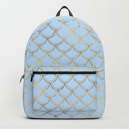 Elegant and Lovely Gold Scales Pattern Backpack